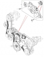 Auxiliary Drive Belt & Pulleys 2.2 With AC